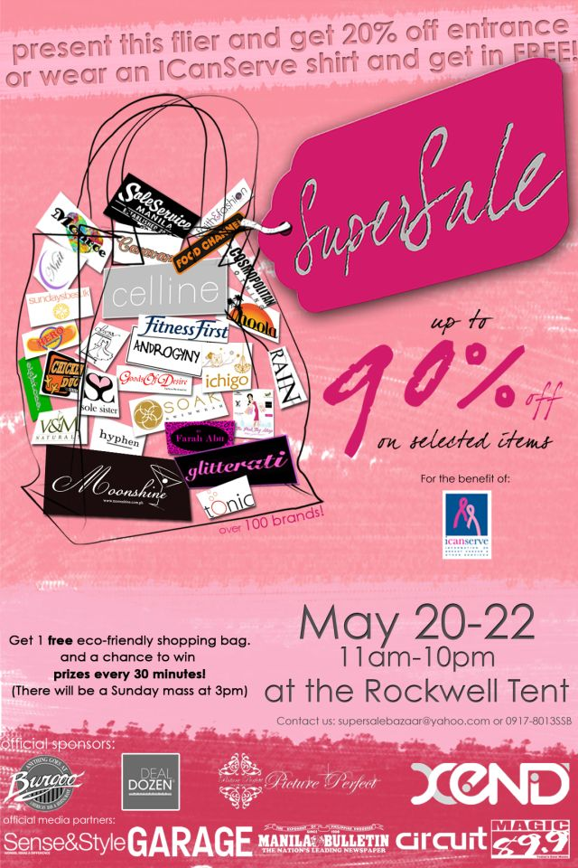 Supersale Bazaar-May 20 to 22, 2011