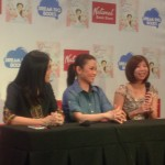 From left: Writer Yvette Fernandez, subject Lea Salonga, illustrator Nicole Lim