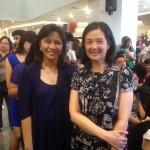 Congresswoman Leni Robredo and Presidential sister Viel Aquino-Dee