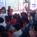 ICanServe volunteer, Dra. Cecille Montales, lectures on breast self-examination and breast cancer myths