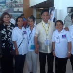 Muntinlupa officials welcome Marikina barangay health workers who came to help with the screening of city hall employees