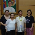 ICanServe board members Pamsy Tioseco (Media & Information), Tang Singson (president) and Libet Virata (chairman) with Muntinlupa Mayor Jaime Fresnedi