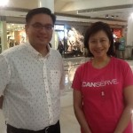 Former Muntinlupa Rep. Ruffy Biazon with ICanServe Foundation chairman Libet Virata