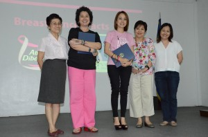Dr. Ma. Corazon Reyes, Alya Honasan and Kara Magsanoc Alikpala of ICANSERVE Foundation, Dr. Rosario Lapus, and Luwi Tampinco-Lunas