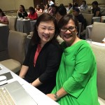 ICANSERVE managing director Lanie Eusebio (right) with friend and ICANSERVE volunteer Dorothy Ngo