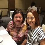 ICANSERVE long-time friend, volunteer and advocate Olen Jalandoni with ICANSERVE founding president Kara Magsanoc-Alikpala