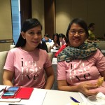 ICANSERVE volunteers Meldy Baldivino and Beth Estolano