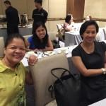 ICANSERVE volunteers Isabel Sanchez, Mona Masilang and Fe Ea
