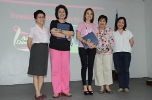 Dr. Ma. Corazon Reyes, Alya Honasan and Kara Magsanoc Alikpala of ICANSERVE Foundation, Dr. Rosario Lapus, and Luwi Tampinco-Lunas